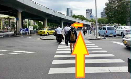 新大阪駅からの道順3